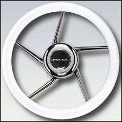 Stainless Steel Helix Spokes Steering Wheel, 13.8