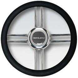 Stainless Steel Cross Spokes Steering Wheel, 13.8