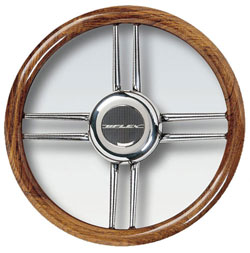 Stainless Steel Cross Spokes Steering Wheel, 15.7