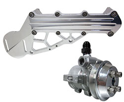 "Crossover Mounted Power Steering System - 1"" NPT Dual Inlet"