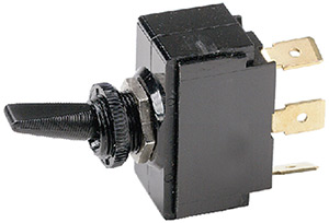 "Ancor Nickel Plated Brass Toggle Switch Spst On-Off (Toggle Is Paddle With 1/4"" Tab)"""