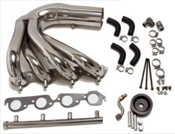 CMI 496 E-Top Polished Exhaust Header Systems