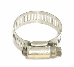 "Stainless Steel Hose Clamp 3/4"" - 1 1/2"""