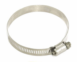"Stainless Steel Hose Clamp 2 1/2"" - 3 1/2"""
