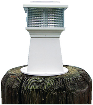 Dock Edge Solar Rechargeable Piling Light With Replaceable Battery