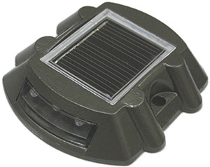 Dock Edge Starlite Solar Capacitor With 6 Led's Charcoal Grey Model 108