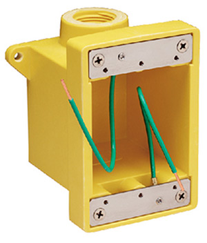 "Marinco 6083cr Yellow Fiberglass Fd Box With 3/4"" Or 1"" K.O. Holes"""