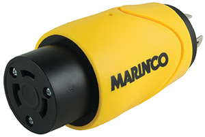 Marinco S30-30 (Old 84a) Straight Adapter Dock Side Male 20a/125v Locking To Boat Side Female 30a/125v Locking