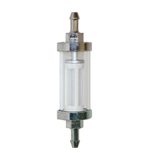 "1/4"" Transparent Inline Fuel Filter"
