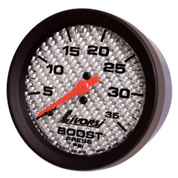 Livorsi 0-35 PSI Boost Gauge Mega & Race Rim 2-1/16""