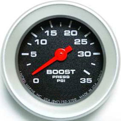 Livorsi 0-35 PSI Boost Gauge Industrial Series 2-1/16""