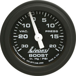 Livorsi Vacuum/Boost Gauge Industrial Series 2-1/16""