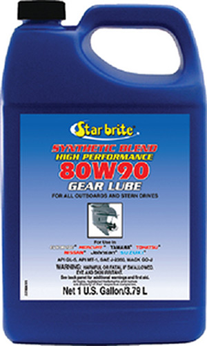 Synthetic 80W 90 Lower Unit Gear Lube, 1 Gal.