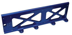 Universal Billet ECU/Ignition Mounting Bracket, Blue