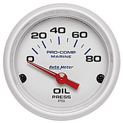 "2-1/16"" Auto Meter Pro-Comp Phantom Marine Gauges"