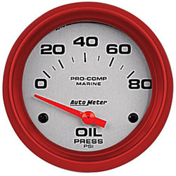 "2-5/8"" Auto Meter Oil Pressure Gauges - Custom Colored Rims"
