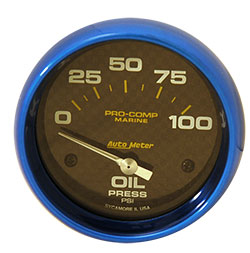 "Autometer 2-1/16"" Electric 0-100 PSI Oil Pressure"