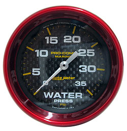 "Autometer 2-5/8"" Mechanical Water Pressure 0-35 PSI"