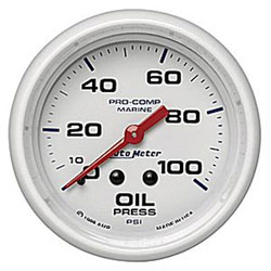 "Autometer 2-1/16"" Mechanical  0-100 PSI Oil Pressure"