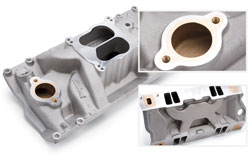 Marine Intake Manifold for 396-502 Chevrolet with large oval-port (1975 and earlier)