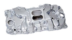 Big Block Chevy Rectangular Polished Port Performer RPM Manifold