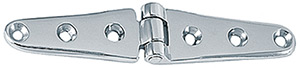 "6"" Strap Hinges Chrome Plated Brass, Pr."""