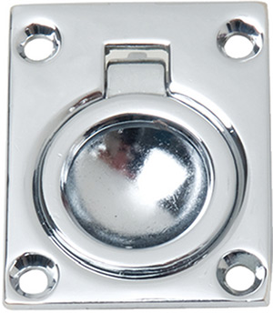 Chrome Plated Zinc Flush Ring Pull