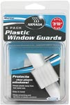 Plastic Window Guards, 6/Card""