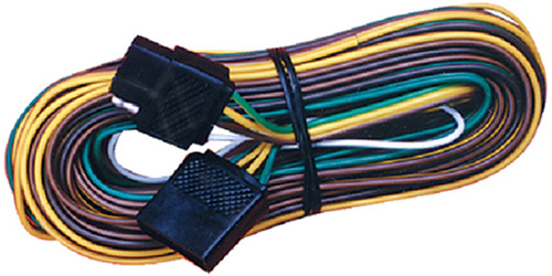 Vehicle Wiring Harness With Pole Flat Trailer Connector on