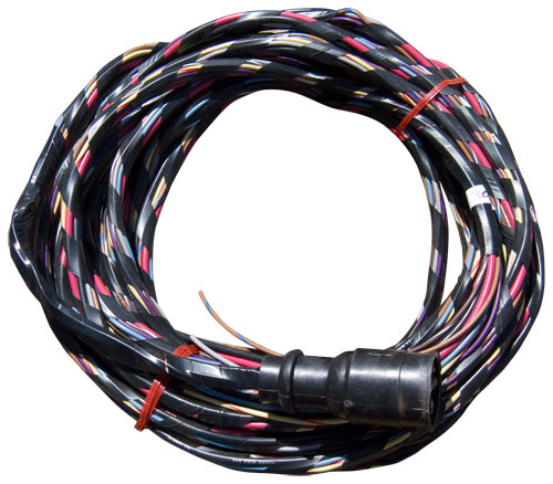 30 ft boat wiring harness, wired for voltmeter and mercury style30 ft boat wiring harness, wired for voltmeter and mercury style cannon plug hardin marine