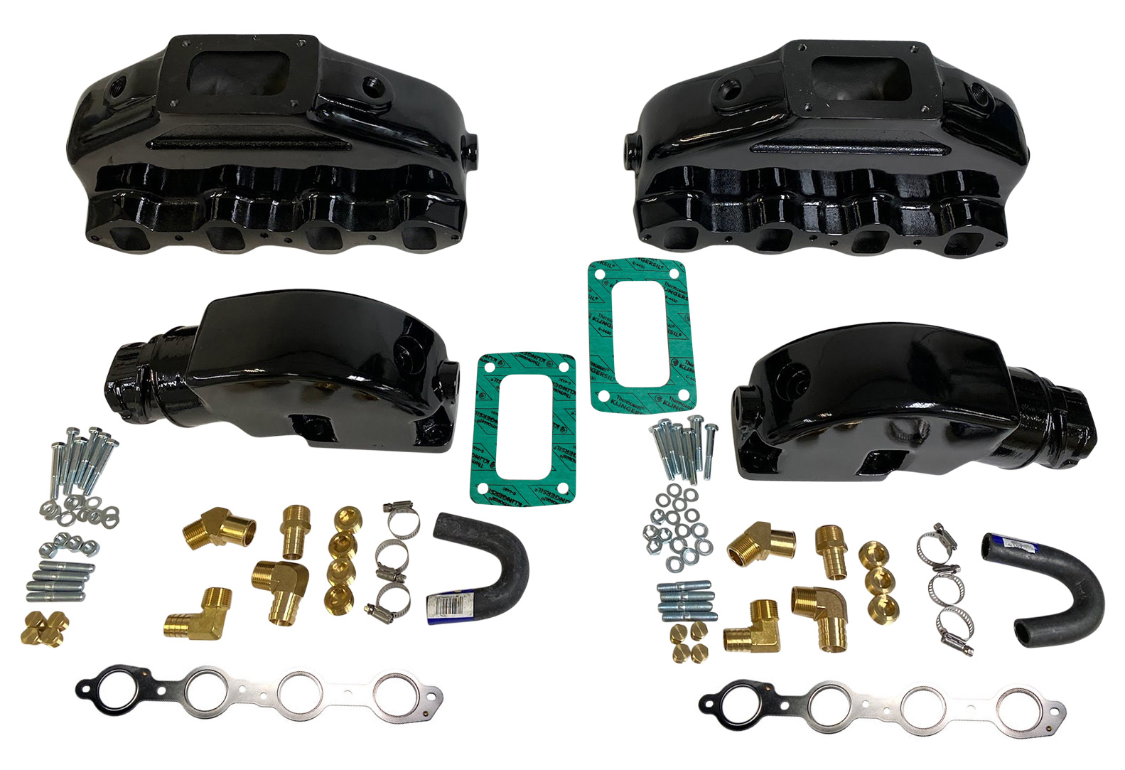 Hardin Marine GM Ls Exhaust Manifold 48 53 60 62 70l Aluminum 4 System: GM Exhaust Systems At Woreks.co