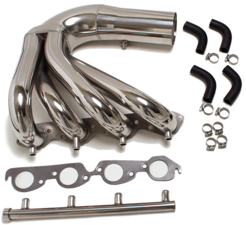 CMI 454/502 Direct Mercruiser Replacement E-Top Exhaust System, Polished