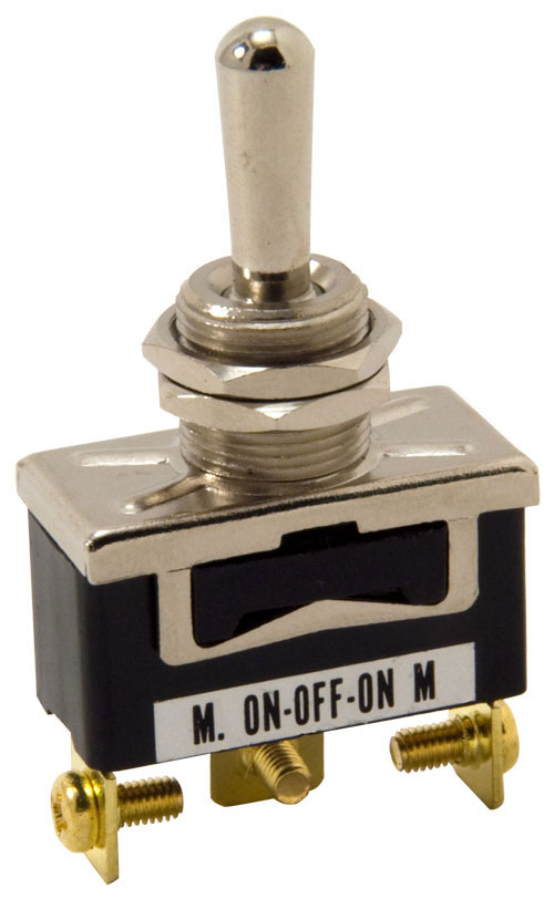 Standard Duty Toggle Switch Momentary On/Off/Momentary On Single Pole
