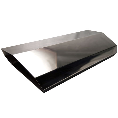 Aluminum Air Scoops : Hardin marine tall aluminum stealth single air scoop