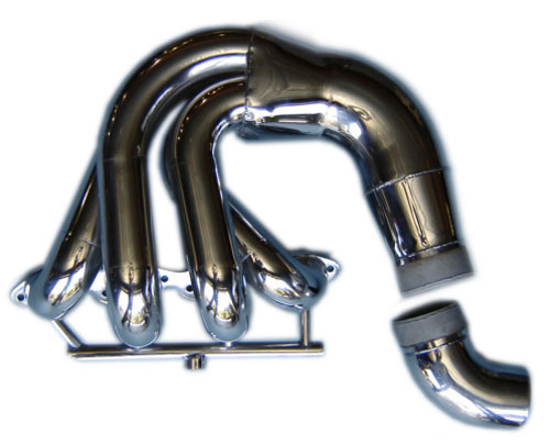 Below Swim Platform Low Port Exit Jacketed Headers - 460 Ford