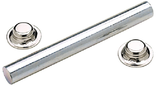 Seachoice Zinc Plated Steel Roller Shaft Includes 2 Pal Nuts