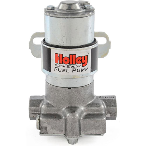 Holley Black Pump 140 GPH Free Flowing Pre-set at 14 PSI