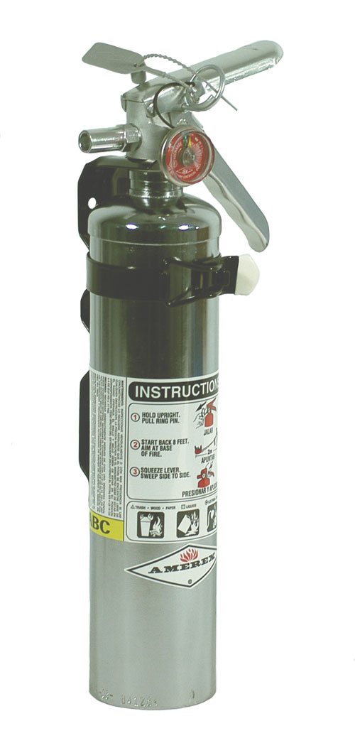 2.5 LB  Standard Chrome Dry Chemical Fire Extinguisher