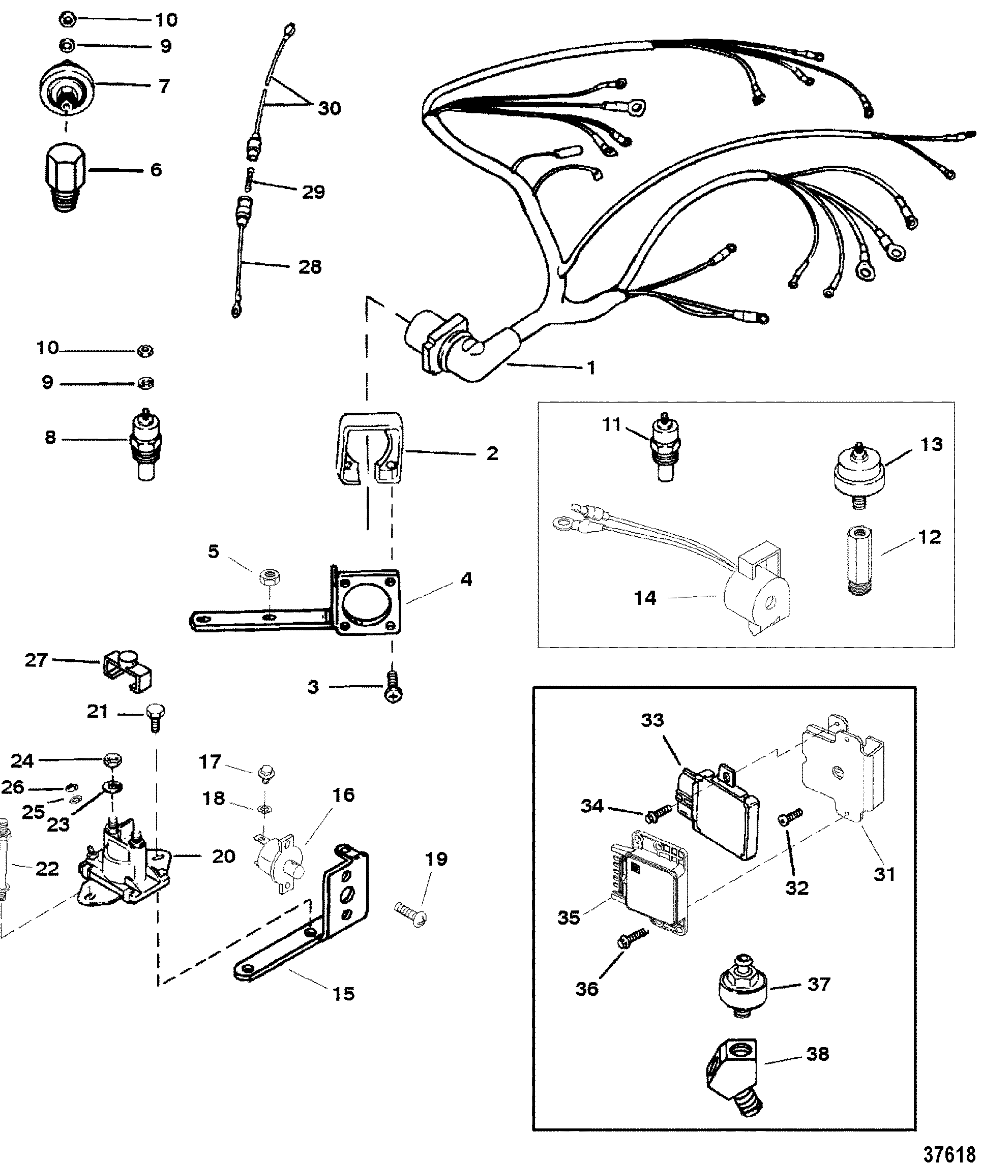 Hardin Marine - Wiring Harness And Electrical Components