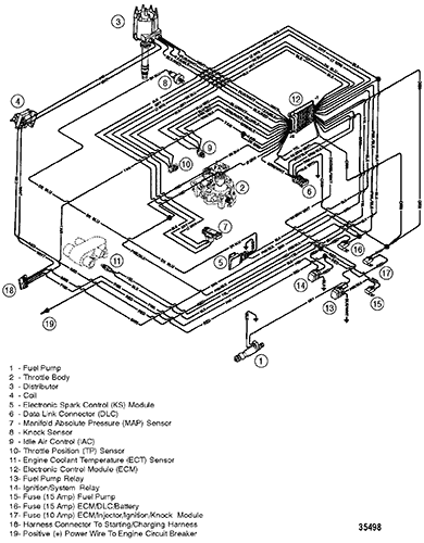 hardin marine wiring harness (efi) 88 chevy engine wiring harness diagram section drawing (hover or click to view larger)