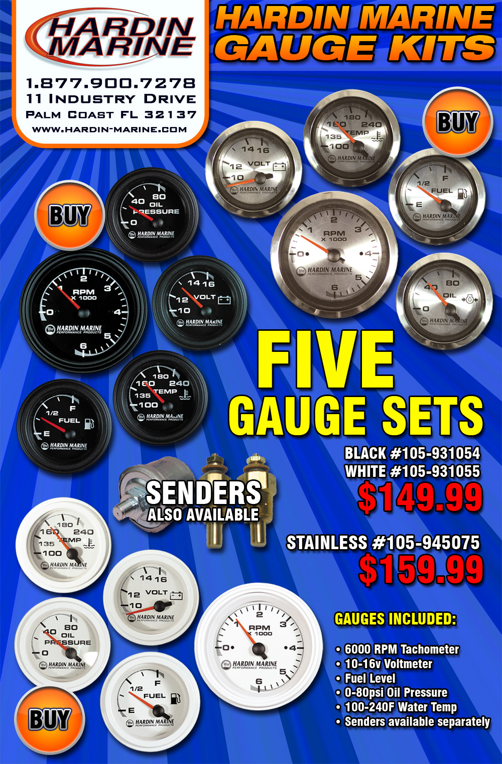 Geico Marine Insurance >> Get great value from your gauges with Hardin Marine Gauge Sets