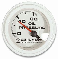 "2"" Oil Pressure Gauge, 0-80 PSI"