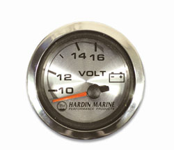 "2"" Volt Gauge - White, Black or Stainless"