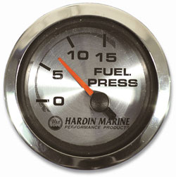 "Fuel Pressure 2-1/16"" Gauge 0-15 PSI"