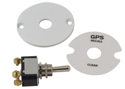 GPS Memory Recall Switch & Plate Kit For Autometer or Livorsi GPS Gauges