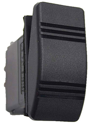 Contura Iii Non-Illuminated Weather Resistant Rocker Switch, Mom On/Off, Black