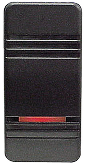Contura Iii Illuminated Weather Resistant Rocker Switch, On/Off, Black