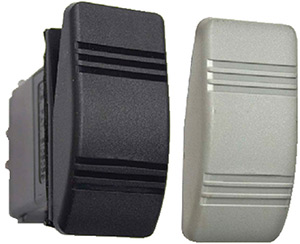 Contura Iii Non-Illuminated Weather Resistant Rocker Switch, Mom On/Off, Black & Gray