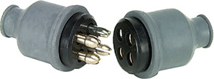4 Pole Rubberized Connector