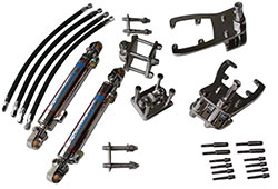 Single Bravo Dual Ram Add-On External Hydraulic Steering System